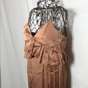 H&M Copper Wrinkle Dress
